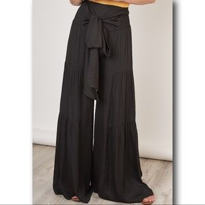 UNIQUE TIERS ON WIDE LEG with a SASHED WAIST